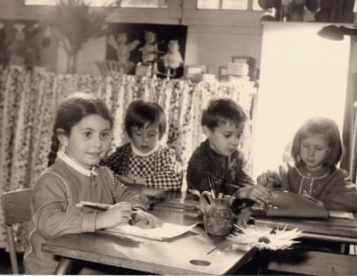 Kathy à l'école maternelle à Paris en 1968