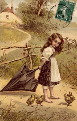 Extrait de ma collection personnelle : une carte gaufrée postée en 1908