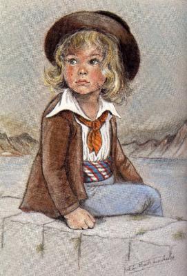 Enfant breton de Marie Claude Monchaux, illustratrice