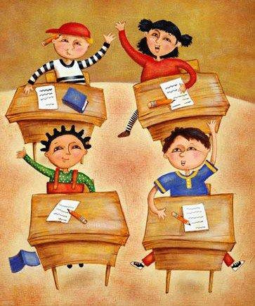 """Un gentil petit poème de Georges Jean """"L'école est fermée"""""""