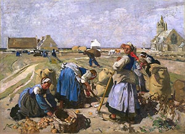 """Lucien Simon (1861 - 1945) """"La récolte des pommes de terre"""""""
