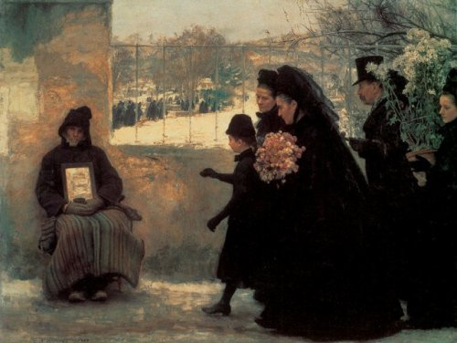 """""""La Toussaint""""     tableau d'Emile Friant"""