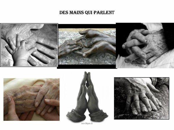 Des mains qui parlent...