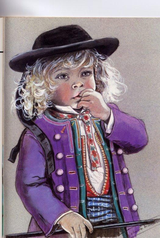 Enfants bretons  de Marie-Claude Monchaux, illustratrice