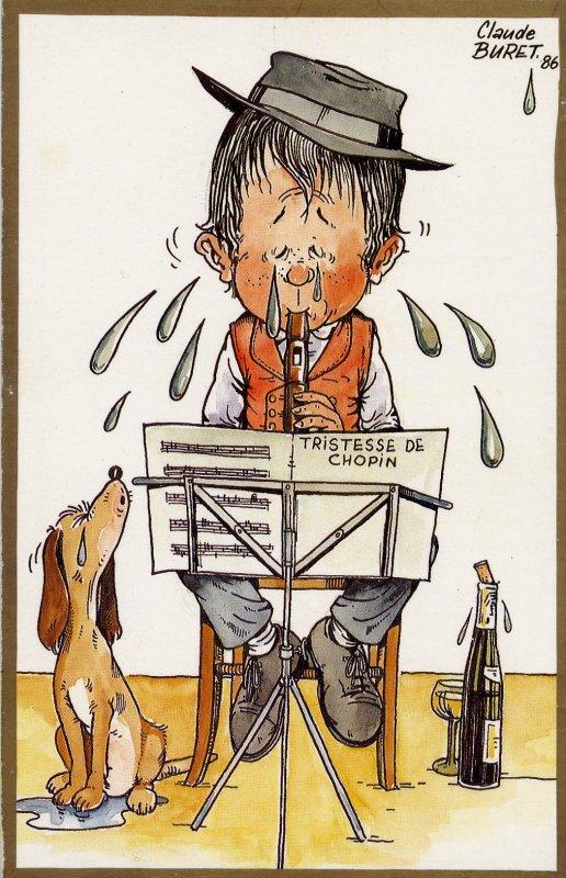 Extrait de ma collection de cartes postales signées Claude BURET, Illustrateur alsacien