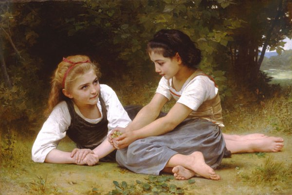 William Adolphe Bouguereau   (1825-1905)  Les noisettes