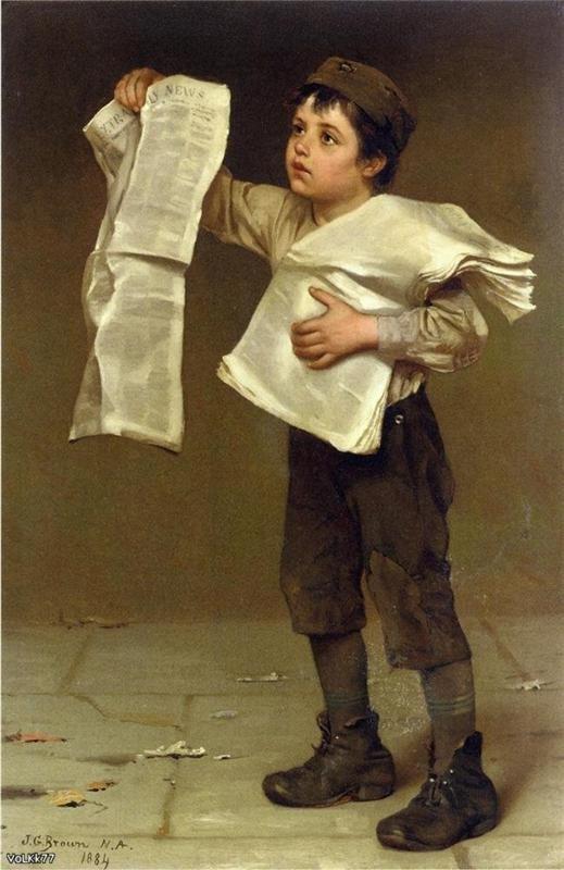 Les nouvelles du matin... avec John George Brown  (1831-1913)