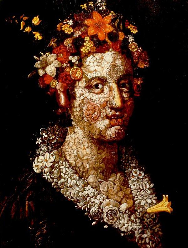 "Giuseppe Arcimboldo   (1527-1593)   ""Flora"""