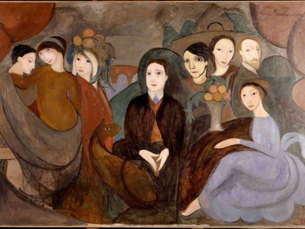 Guillaume Apollinaire et ses amis par Marie Laurencin