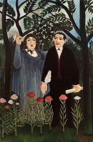 Marie Laurencin et Guillaume Apollinaire par le Douanier Rousseau