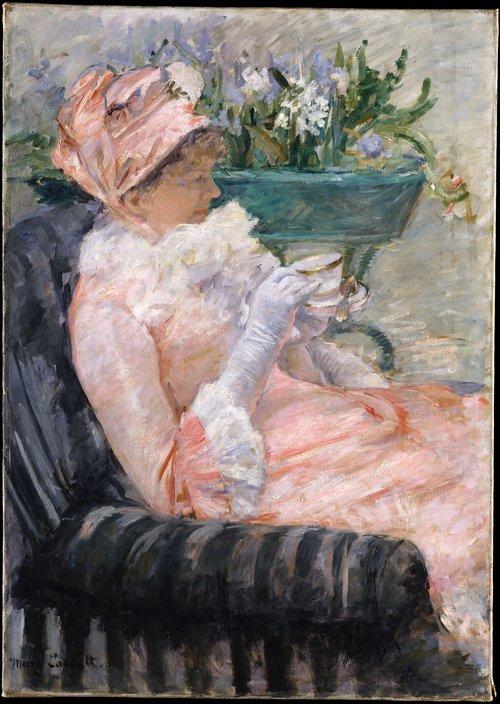 Mary Cassatt    (1844-1926)   L'heure du thé