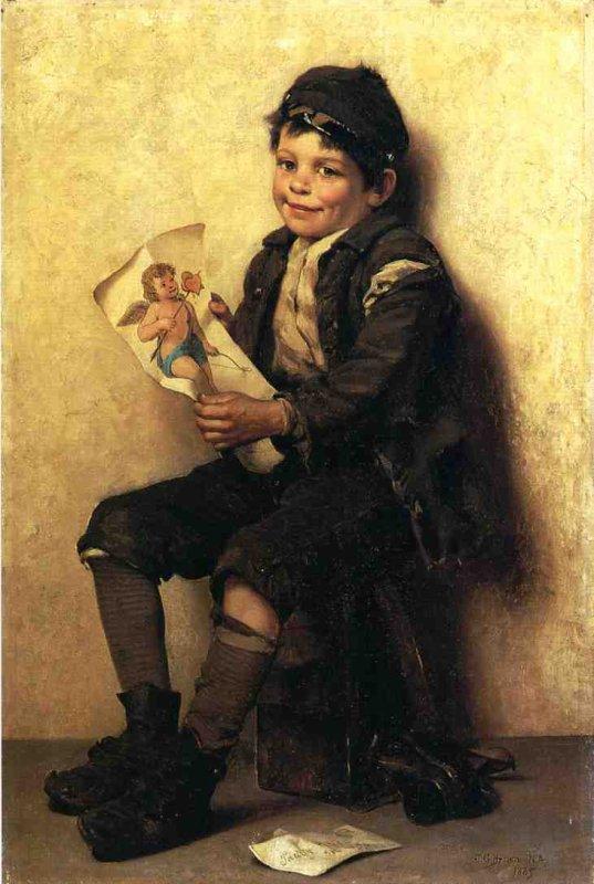 Vive la St Valentin !       John George Brown    (1831-1913)