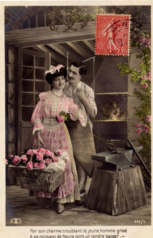 """Extrait de ma collection de cartes postales anciennes   """"Fantaisie"""""""