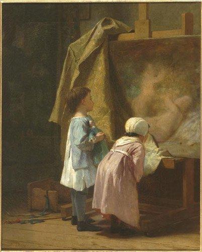 """""""Les petits amateurs""""   Désiré-François Laugée    (1823-1896)"""