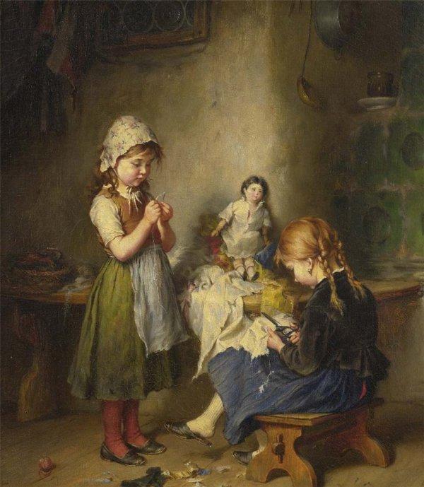 Petites mains pour habiller les poupées