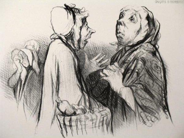 Les femmes vues par Honoré daumier   (1808-1879)