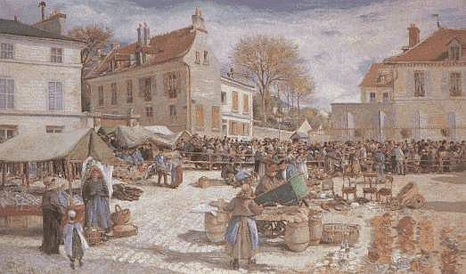 Scènes de marchés en peinture