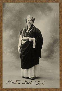 Second coup de coeur...Hommage à Alexandra David-Néel décédée le 8 septembre 1969   (1868-1969)