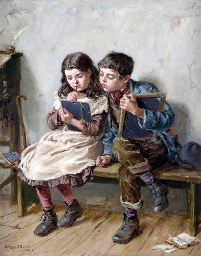 Les écoliers en peinture