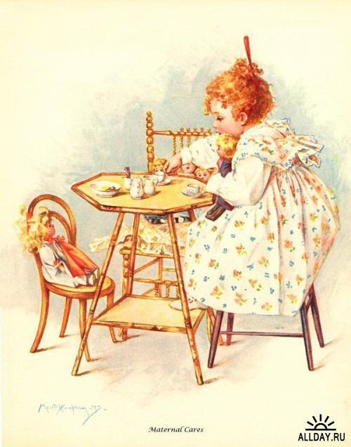 Hommage à Maud Humphrey Bogart, illustratrice  née le  30 mars 1868  (1868-1940)