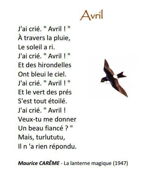 Un peu de poésie avec Maurice Carême