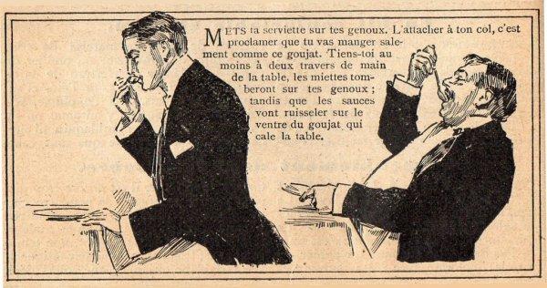 Petite leçon de bienséance  en images  (1909)