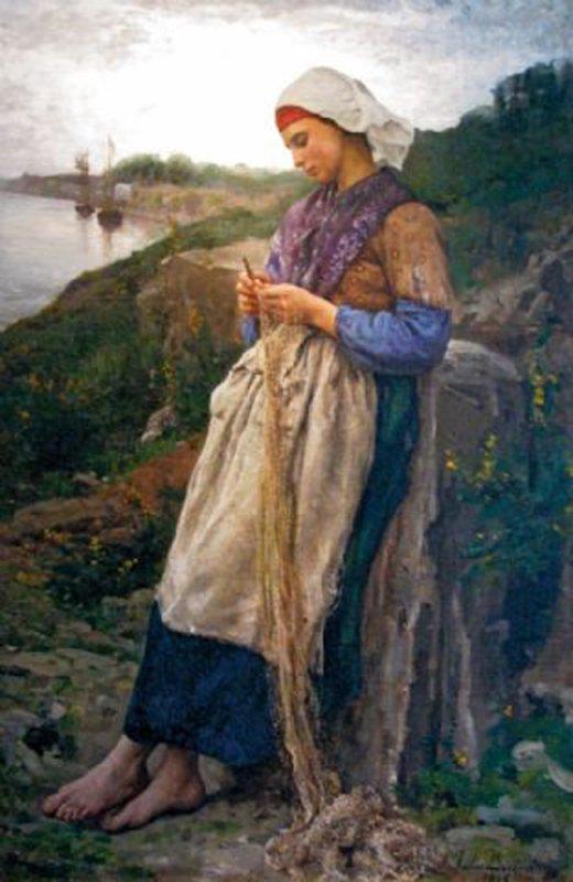 Un peu de poésie avec Jules Breton, peintre et poète né le 1er mai 1827  (1827-1906)