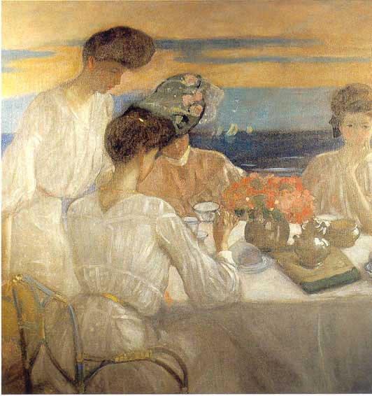 ... tandis que nous allons prendre une tasse de thé entre amies ou en famille