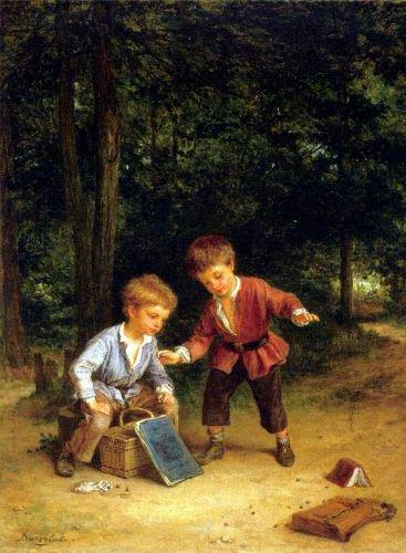 Jeux d'enfants en peinture
