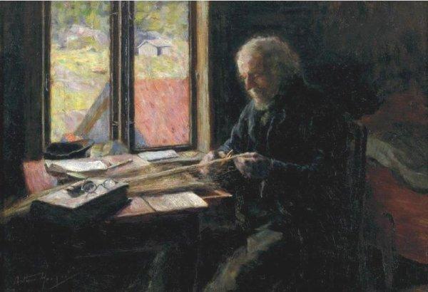 Hommage à Arthur Hacker, peintre  mort le 12 novembre 1919  (1858-1919)