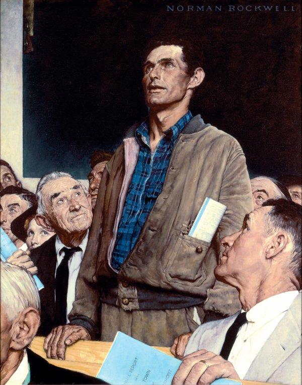Hommage à Norman Rockwell mort le 8 novembre 1978   (1894-1978)