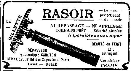 2 décembre 1901 : fabrication du premier rasoir mécanique