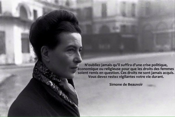 Citation de Simone de Beauvoir   (1908-1986)