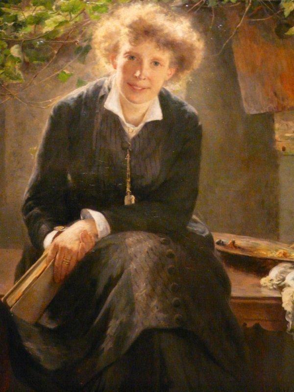 Hommage à Bertha Wegmann, peintre portraitiste danoise née le 16 décembre 1847   (1847-1926)