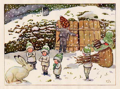 Elsa Beskow  (1874-1953)  illustratrice, née le 11 février 1874