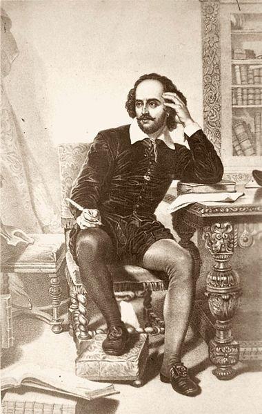 Hommage à William  Shakespeare (1564-1616) l'un des plus grands poètes, dramaturges et écrivains de la culture anglaise, mort le 23 avril 1616