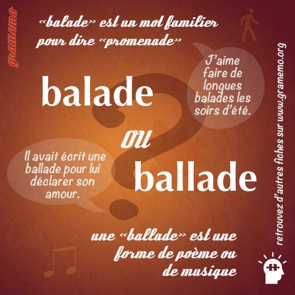 De Balade  en  Ballade ...