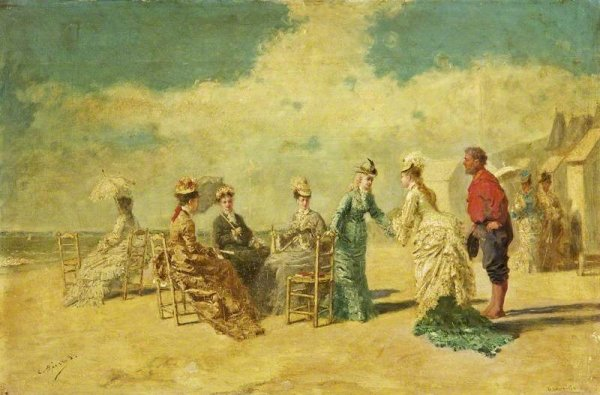 Un petit tour sur la plage, en Normandie, avec René-Xavier-François Prinet (1861-1946)