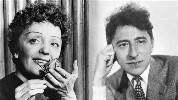 Double Hommage   à Edith Piaf   (1915-1963)    et  à Jean Cocteau  (1889-1963)  disparus respectivement les 10 et 11 octobre 1963