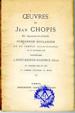 Un peu de poésie avec Jean Chopis   (1816 - après 1903)
