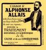 Citations du jour d'Alphonse Allais, journaliste, écrivain et humoriste français mort le 28 octobre 1905 (1854 - 1905)