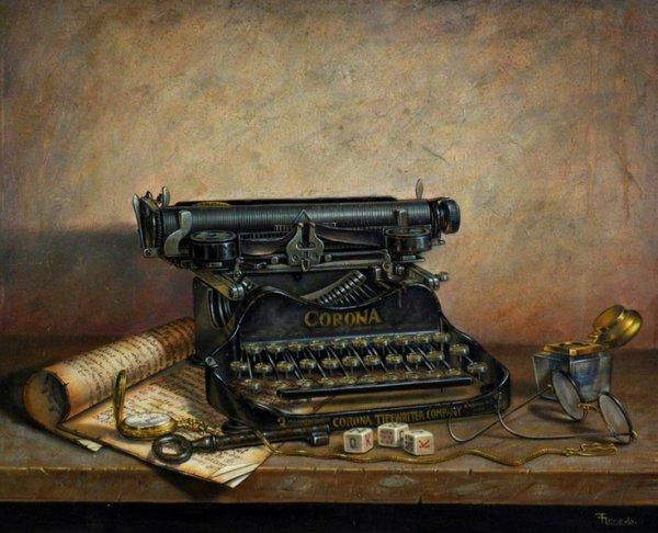 Ah !ces bonnes vieilles machines à écrire...
