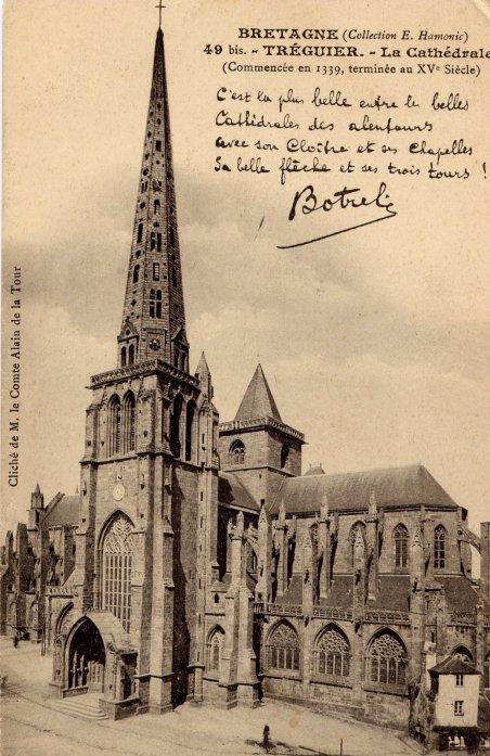 """Extrait de ma collection de cartes postales anciennes  """"Art sacré"""" agrémenté d'un récit de Théodore Botrel  (1868-1925)"""