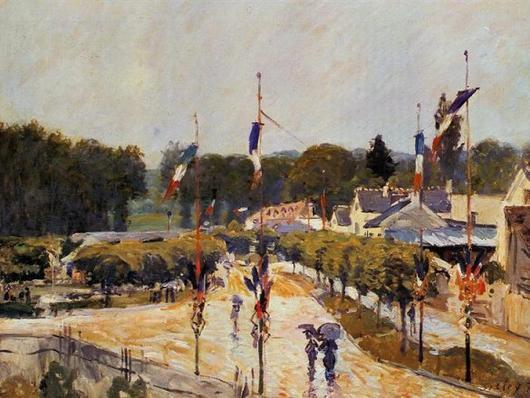 Alfred Sisley (1839-1899)    -   Bon 14 Juillet !