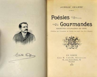 Un peu de poésie gourmande avec Achille Ozanne, (1846-1896) cuisinier-poète