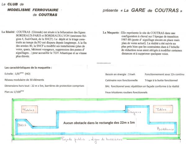 Histoire et horaires d'ouvertures du Club de Modélisme Ferroviaire de Coutras