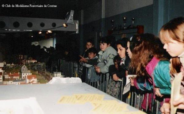 Visite du réseau par des classes d'écoles primaires en Mars 1997