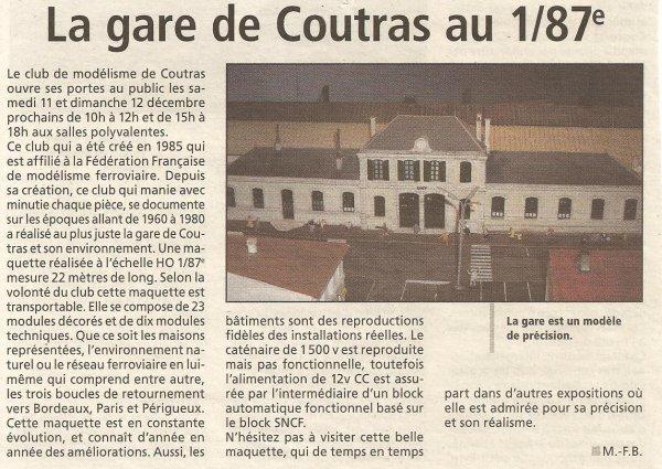 Coupure de presse en Mars 2004