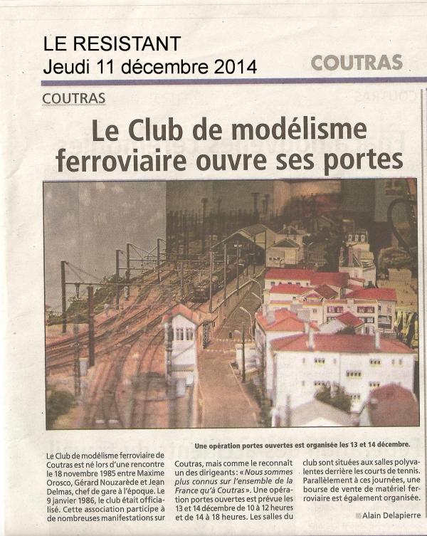 Portes Ouvertes et 1ère bourse d'échange du club les 13 et 14 Décembre 2014