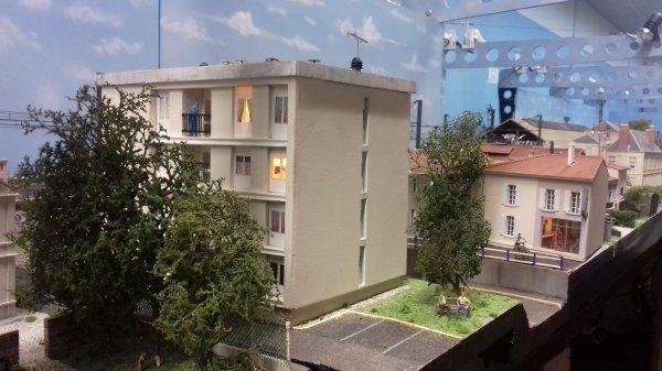 Eclairage des maisons du quartier de la gare et de l'HLM